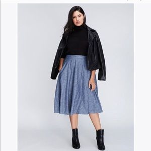 Lane Bryant Chambray Circle Skirt